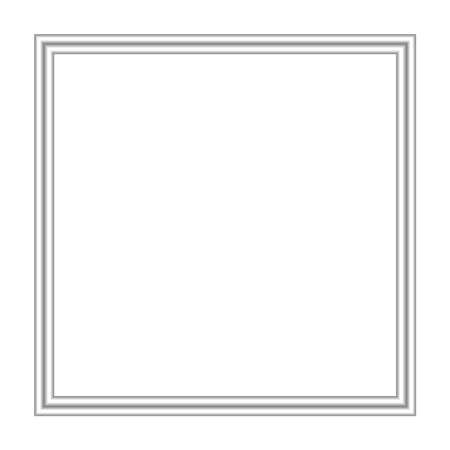 silver frame square isolated on white background and copy space, blank stainless framework for banner ad, empty metallic picture frames, metal frame luxury for image, framework silver grey on white