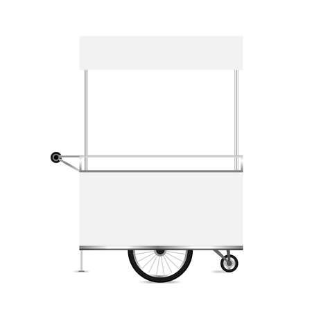 Kiosk White Template Blank Of Kiosk Wheels Cart Stock Clip Art