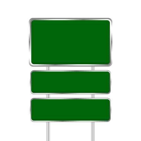 empty green traffic sign board and pole metal isolated on white background, traffic sign board plate blank copy space, metal green traffic sign board, stainless green road board sign for design
