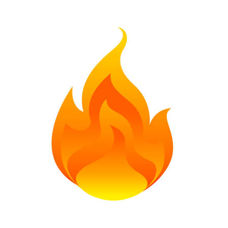 flame, fireball isolated on white background, fire burn symbol, flames icon, flaming logo, bonfire blaze illustration, icon fireball flat for info graphic design, hot symbol for website