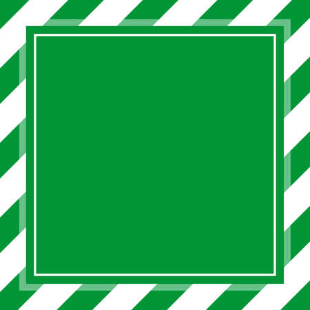 warning sign green white stripe frame template background copy space, banner frame striped awning green, stripe frame for advertising promotion special sale discount on media online beauty products