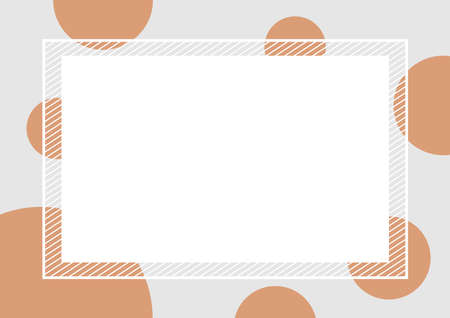 empty banner frame polka dot brown colors for background, banner frame polka dot pastel brown colors copy space advertising, template banner blank and polka dot brown on gray frame for graphic design Иллюстрация