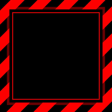 warning sign red black stripe frame template background copy space, banner frame striped awning red, stripe frame for advertising promotion special sale discount on media online beauty products