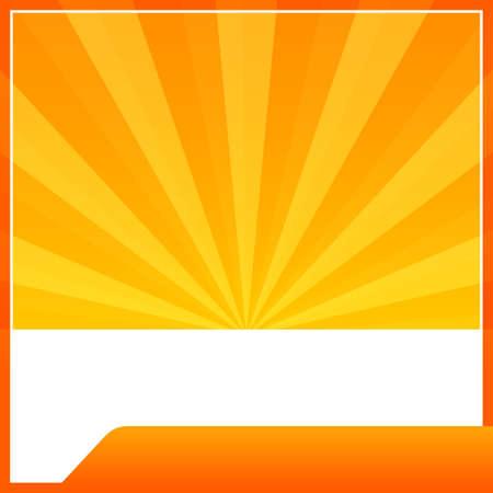 orange banner web template frame lights sun beam shine gradient background, banner orange blank and copy space for advertising banner promotion sale discount on media social online marketing products Ilustração