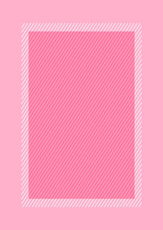fashionable frame pink color flat lay style and rectangle for copy space, empty frame pink for banner design, template of pink frame banner blank for advertising graphic beauty cosmetics fashion Illustration
