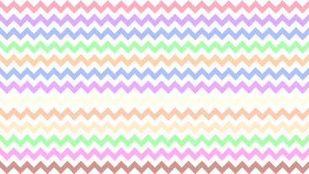 rainbow serrated striped colorful for background, art line shape zig zag doodle pastel, wallpaper stroke line parallel wave triangle rainbow color, tracery chevron colorful triangle striped full frame Ilustração