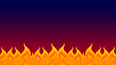 fire, bonfire, fire flame isolated on dark background, fire flame illustration for graphic banner background design