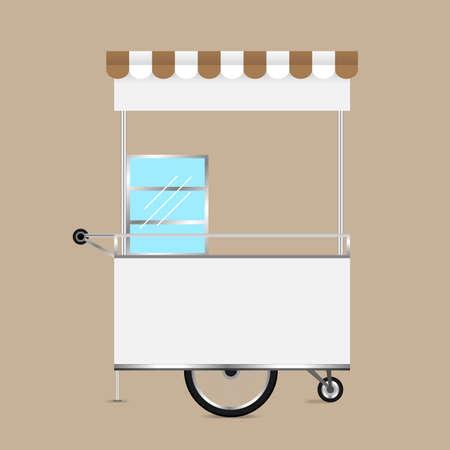 kiosk white, template blank of kiosk wheels cart stock clip art for design, kiosk empty for design of market and exterior symbol, set of market food outdoor, wheels cart kiosk for business small shop