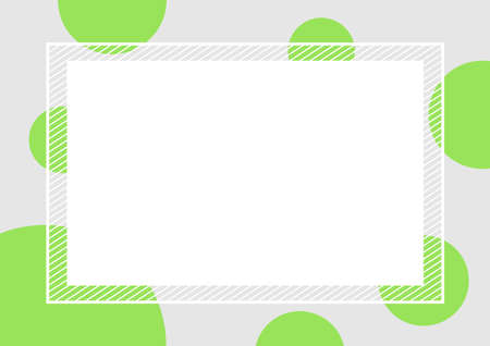 empty banner frame polka dot green colors square background, banner frame polka dot pastel green color copy space advertising, template banner blank and polka dot green gray frame for graphic design Illustration