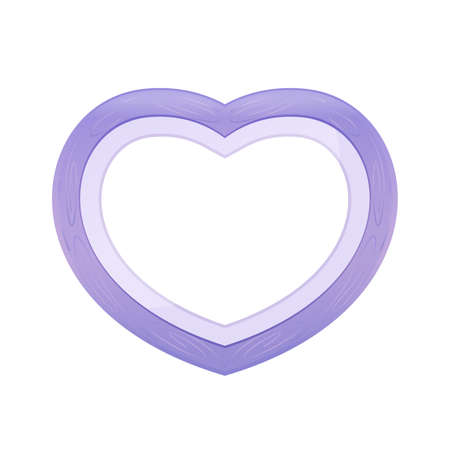 Purple pastel color wood frame Heart shape isolated white background, Heart-shape frame for lover photo wedding and familly, Wooden picture frame Beautiful chic, Heart shape photo frame purple pastel