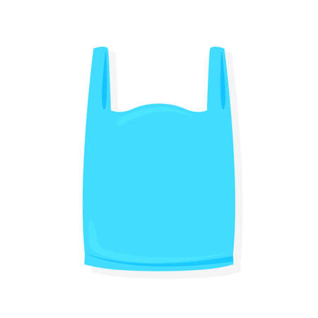 blue bag plastic illustration on white background