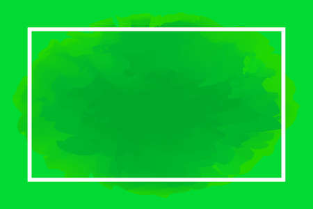 rectangle line white on abstract green background, empty frame on green water color art template and copy space, green watercolor banner frame blank, frame painted watercolor banner green blank 版權商用圖片 - 126632186