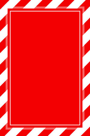 warning sign red white stripe frame template background copy space, red banner frame striped awning, red white stripe frame for advertising promotion special sale discount on media online products
