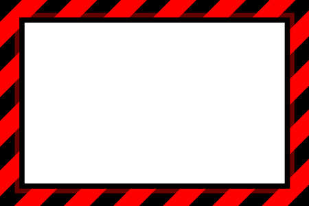 warning sign red and black stripe frame template for background and white copy space, banner frame striped awning red, stripe frame for advertising promotion special sale discount on media online