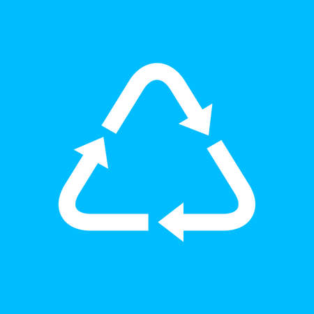 recycle icon template, arrow recycle triangle logo for plastic materials Vectores