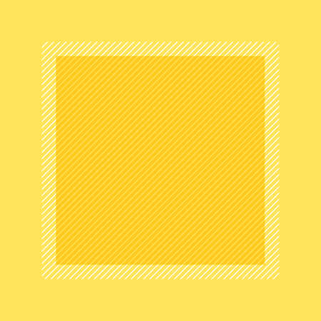 fashionable frame yellow pastel color flat lay style and square for copy space, empty frame yellow for banner design, template frame banner blank for advertising graphic beauty cosmetics fashion