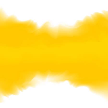 Illustration gelbe Farbe weich im Konzept Aquarell Kunststil, abstrakte Textur gelbe Farben Malerei Kunst Pinsel Aquarell für Hintergrundkarten- und Bannerwerbung, Aquarell digitale Malerei