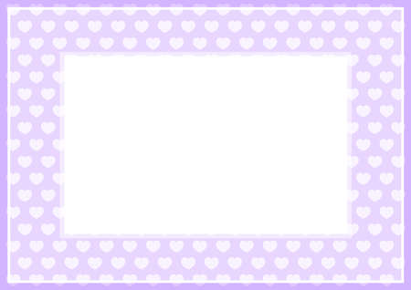 frame of purple pastel color soft and hearts shape for banner background and copy space white paper, heart shape purple soft, heart shaped pastel purple for card frame, heart shape symbolizes love 일러스트