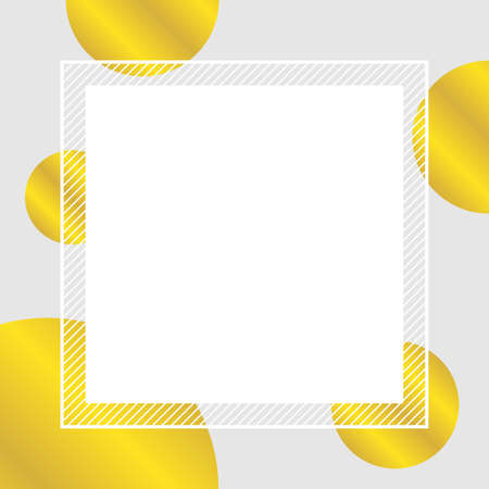 empty banner frame polka dot gold colors for background, pastel banner frame polka dot golden colors copy space advertising, template banner blank and polka dot gold on gray frame for graphic design 일러스트