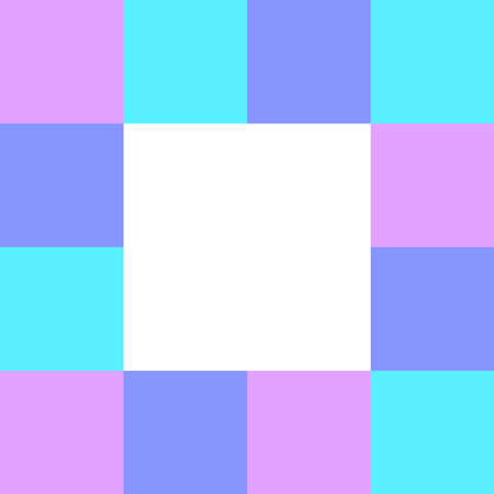 empty square white on pastel color squares checkered block, template banner checker multi color pink and blue, ad colorful block soft purple, cubes square polygon mosaic and copy space advertising