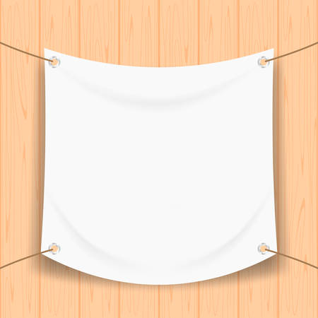 vinyl banner blank white isolated on square wood frame, white mock up textile fabric empty for banner advertising stand hanging, indoor outdoor fabric mesh vinyl backdrop for presentation frame poster