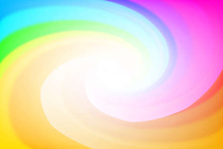 blurred rainbow colors twist wave colorful effect for background, illustration gradient in water color art swirl rainbow and sweet multicolor concept, orange colorful wallpaper with twist swirl soft Ilustração