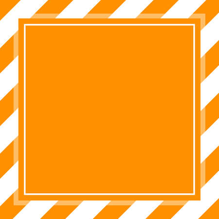 warning sign orange white stripe frame template background copy space, banner frame striped awning orange, stripe frame for advertising promotion special sale discount on media online beauty products