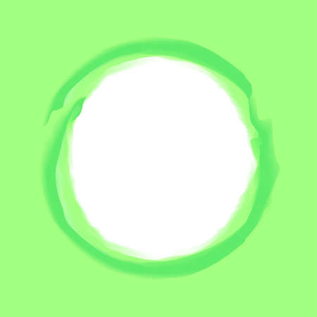 circle stroke art line green colors on light green background and white copy space, circle line green watercolor art style for banner blank frame, empty green circle and frame water color style Çizim