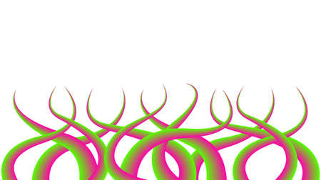 Thorns Sharp isolated on white background, Liana Thorn graphic colorful gradient art, Floral branch graphic thorns and vine spikes, Thorns Briers Growing and Tangling swirl, Prickly Thorn illustration