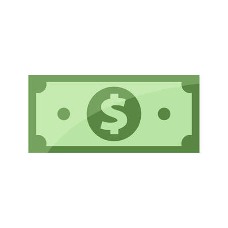banknote for clip art, banknotes money isolated on white, banknote money icon, bank note for symbol infographics, money for flat illustration