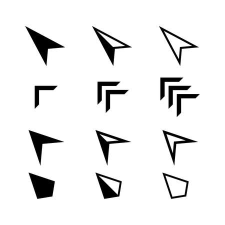 icon arrow set isolated on white, collection arrow cursor symbol for element design, cursor arrow icons black color, arrow symbol for pointer sign