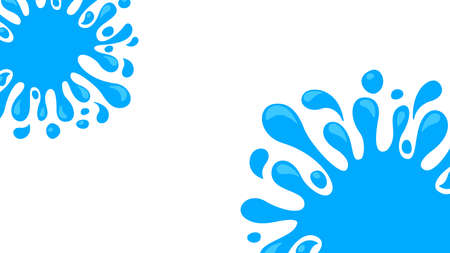 water drop splash blob on white background, water expose splash for banner frame, water drop splatter simple for songkran festival copy space template, splash water drop burst for banner refreshing ad