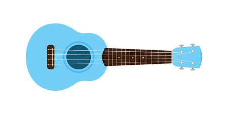 ukulele cute blue pastel isolated on white, small ukelele blue soft color for flat icon, realistic ukelele for classical music play, ukulele classic retro style in holiday summer concept, small guitar