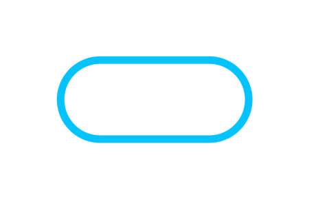 button square rounded corner, blue square button simple, icon square shape with corner curve and outline stroke Vektoros illusztráció