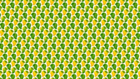 mango ripe and raw mango for background, mango pattern yellow green for illustration, clip art mango fruit pattern for wallpaper