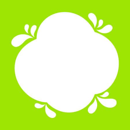 milk blob shape on lemon green for banner copy space, aqua background, white milk blob splash on bright green, water blobs droplet wave shape for banner, milk blob simple on lime green for graphic ad Фото со стока - 147442119