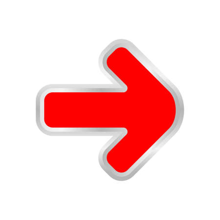 red arrow pointing right isolated on white, clip art red arrow icon pointing to right, 3d arrow symbol indicates red direction pointing to right, illustrations arrow buttons for point right