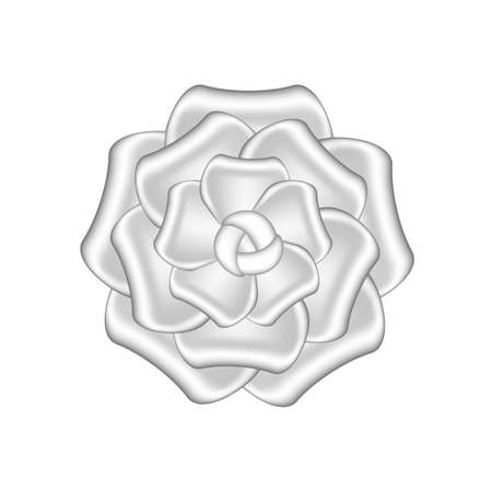 rose flowers silver ornate isolated on white background, luxury flower petal silver simple, silver flowers object metal sculpture, illustration of deluxe silver flower, clip art flowers luxurious