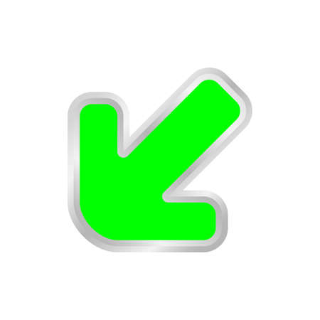 green arrow pointing left down, clip art green arrow icon pointing for left down, 3d arrow symbol indicates green direction pointing left down, illustrations arrow buttons left down isolated