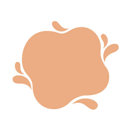 blob shape brown pastel soft for banner copy space, aqua background, cocoa brown milk blob splash on white, water blobs droplet wave shape for banner, milk blob simple for graphic ad design