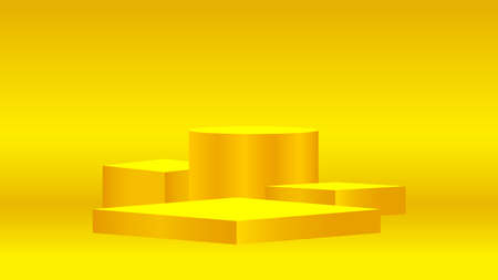luxury pedestal gold 3d on golden background, gold pedestal circle box for cosmetics product display show, gold podium stage show for deluxe victory position, ellipse stand of product place decoration