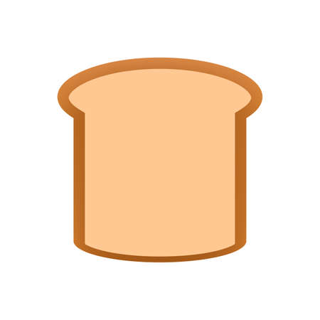 sliced bread icon isolated on white background, clip art bread piece sliced cut, illustration flat lay bread for foods graphic, bread sliced for logo and designs