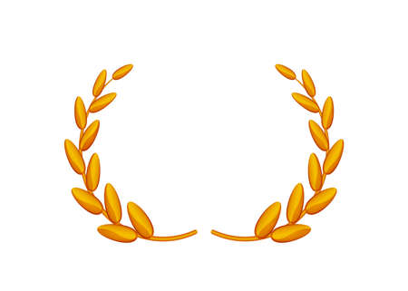 copper laurel wreath isolated on white background, circle frame copper laurel wreath symbol, laurel wreath element of graduation certificates card, royal luxury vip for ornament avatar vintage icon