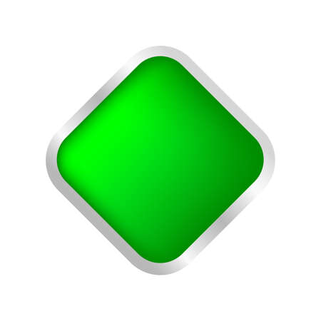 button square shape green for buttons games play isolated on white, green modern 3d buttons simple and convex, square button green flat style icon sign for applications, buttons square for website app