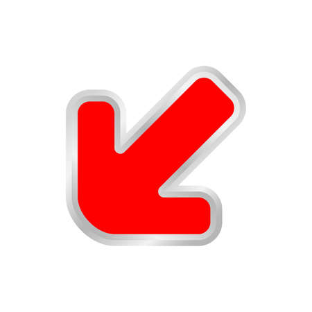 red arrow pointing left down, clip art red arrow icon pointing for left down, 3d arrow symbol indicates red direction pointing left down