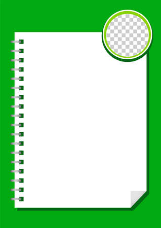 template paper rectangle a4 white and circle transparent for background, blank paper white for banner presentation, cover paper white a four print for clip art, empty paper a4 mock up for copy space Stock Illustratie