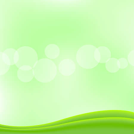 bokeh soft green for background banner and copy space, bokeh bright green with graphic green curve wave for banner, smooth and soft white for wallpaper  イラスト・ベクター素材