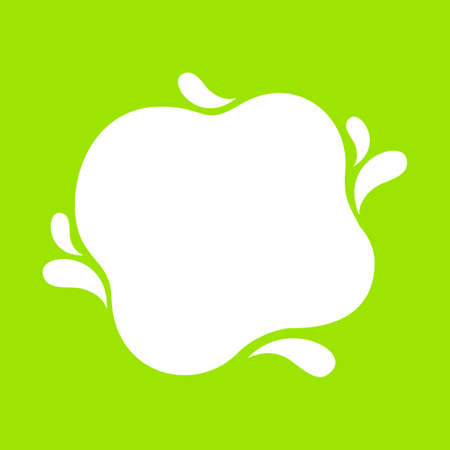 milk blob shape on lemon green for banner copy space, aqua background, white milk blob splash on bright green, water blobs droplet wave shape for banner, milk blob simple on lime green for graphic ad