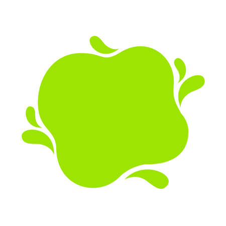 lemon green blob shape, green tea milk for background, bright green in milk blob splash shape, water blobs droplet wave shape for banner, simple blob shape in lime green color, copy space text