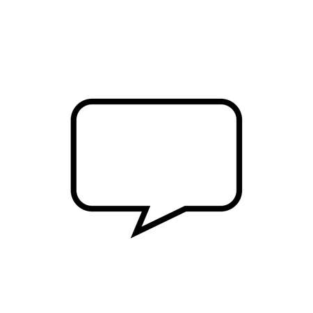 speech bubble isolated on white, speech balloon square sign for communication symbol, doodle line speech bubble for talk text, balloon message icon, dialog chatting graphic for icon talk